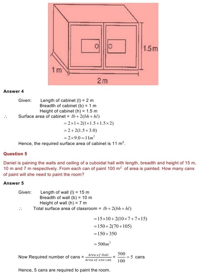 NCERT Solutions for Class 8 Mathematics Chapter 11: Mensuration