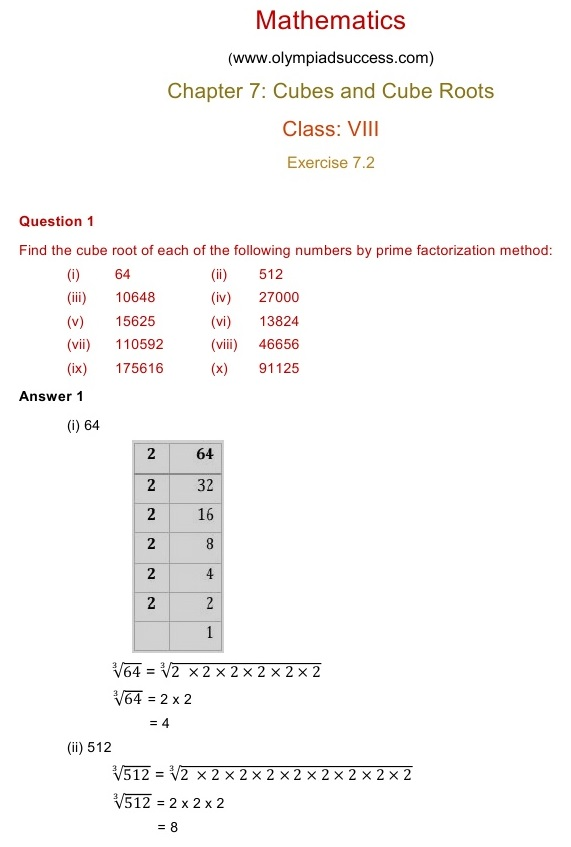 NCERT Solutions for Maths Class 8 Chapter 7 Exercise 7.2