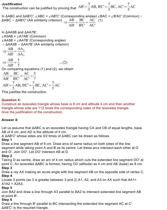 NCERT Solutions for Maths Class Chapter