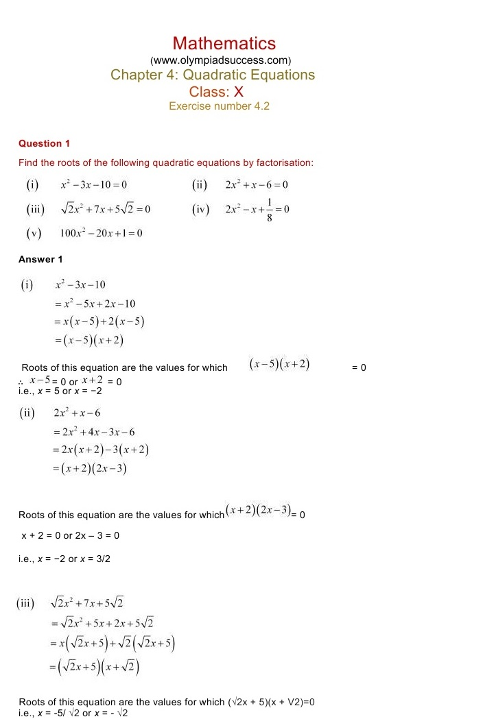 ncert solutions class 10 maths chapter 2 exercise 2 3