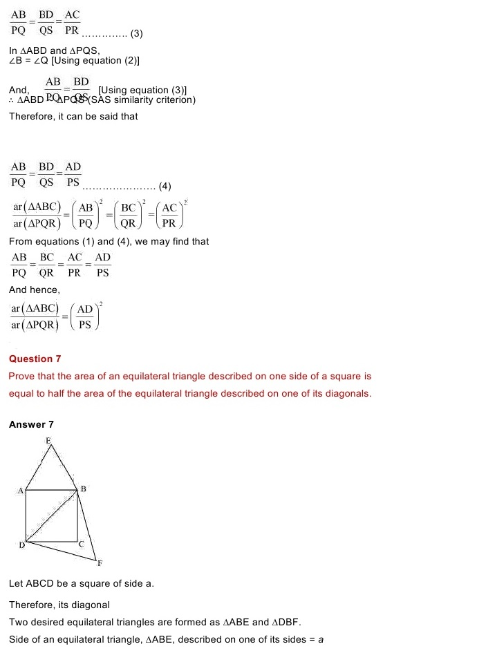 NCERT Solutions for Maths Class 10 Chapter 6 Exercise 6.3