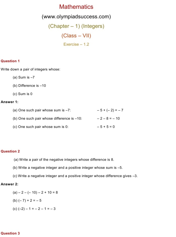 ncert solution of class 7 maths chapter 1 exercise 1.4