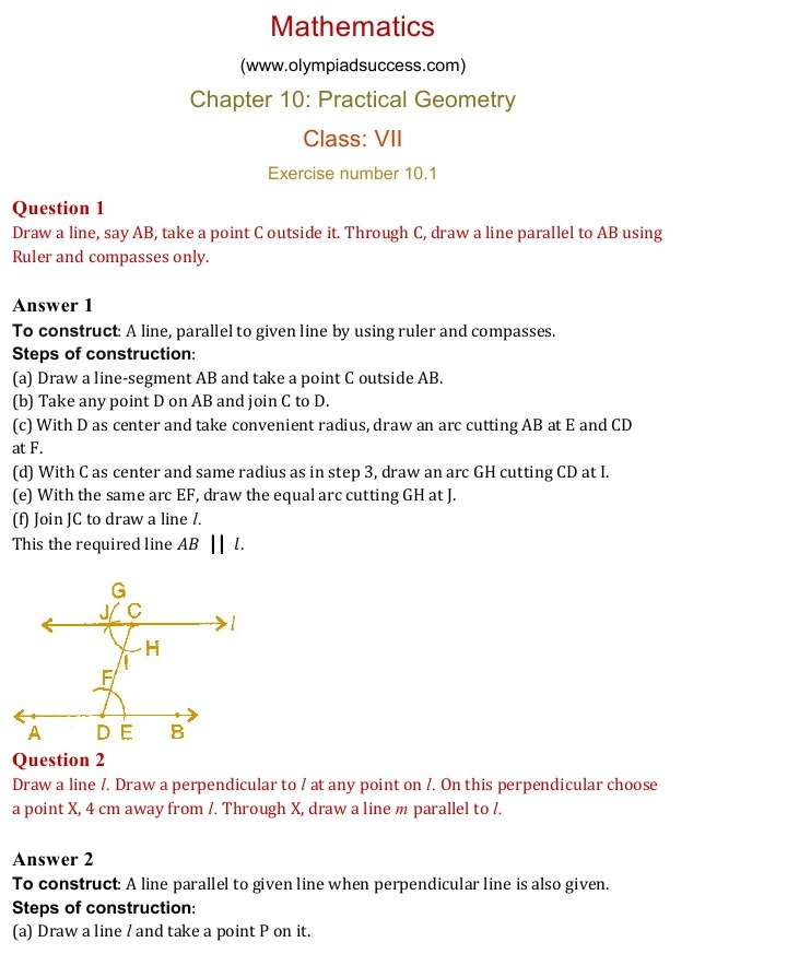 Practical Guidelines For Practical Fitness Solutions: NCERT Solutions For Class 7 Mathematics Chapter 10