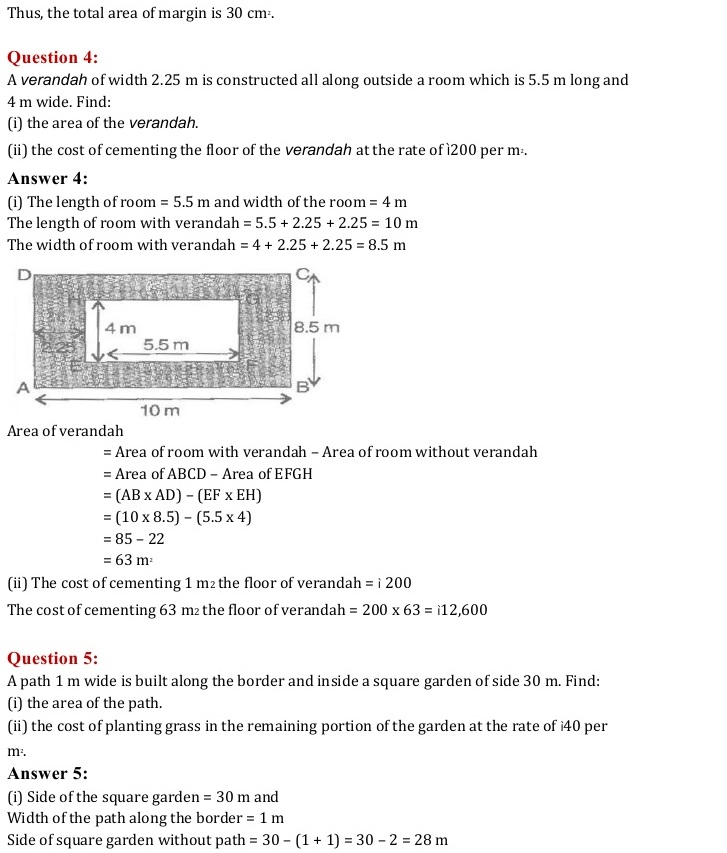 NCERT Solutions for Class 7 Mathematics Chapter 11: Perimeter and