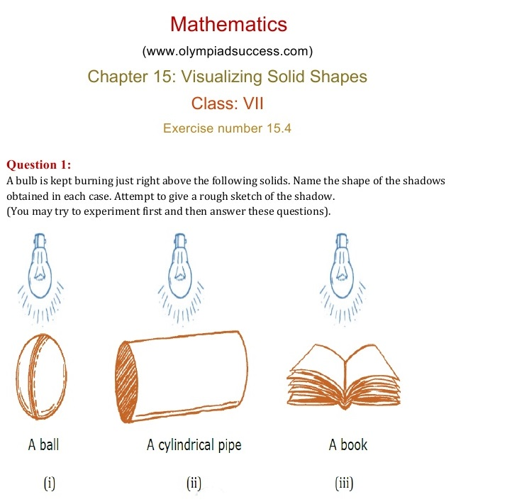 NCERT Solutions for Class 7 Mathematics Chapter 15: Visualizing ...