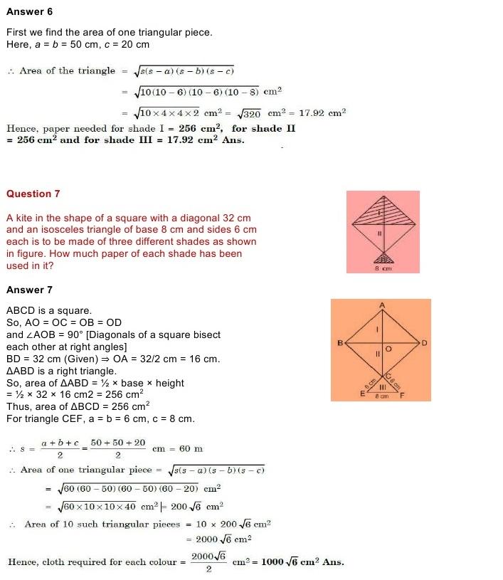 NCERT Solutions for Class 9 Mathematics Chapter 12: Heronâ